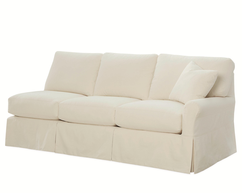 lee industries slipcovered one arm sofa c563218rf