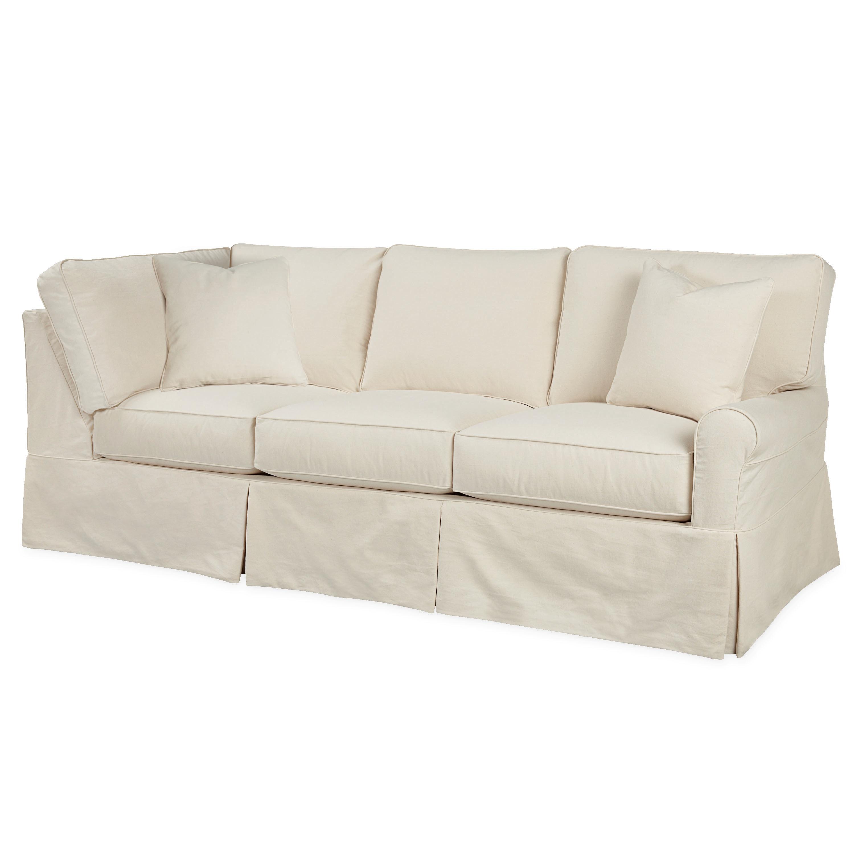lee industries slipcovered one arm cornering sofa c563223rf