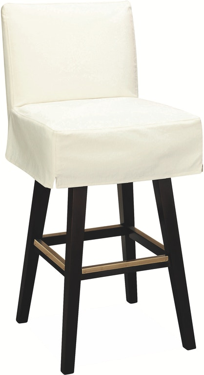 Lee Industries Bar And Game Room Slipcovered Swivel Bar