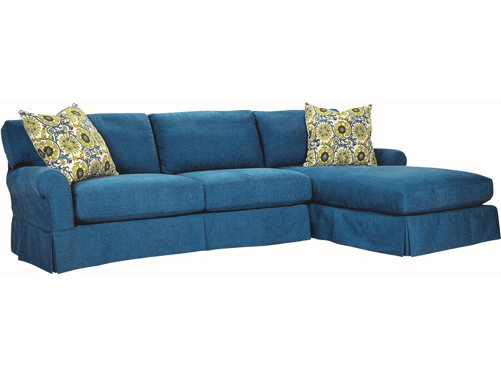 Lee Industries Living Room Slipcovered One Arm Sofa C7117 18lf Meg Brown Home Furnishings