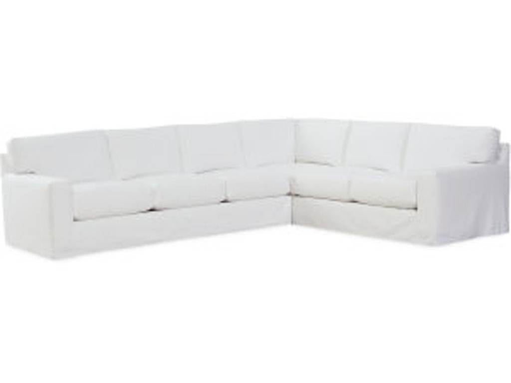 Lee Industries Slipcovered Sectional Series C7922
