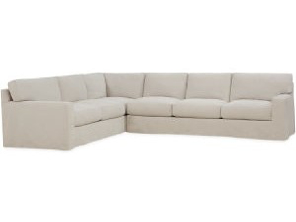 Lee Industries Living Room Slipcovered Sectional Series