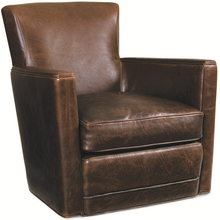Lee Industries Living Room Leather Swivel Chair L1017-01SW ...