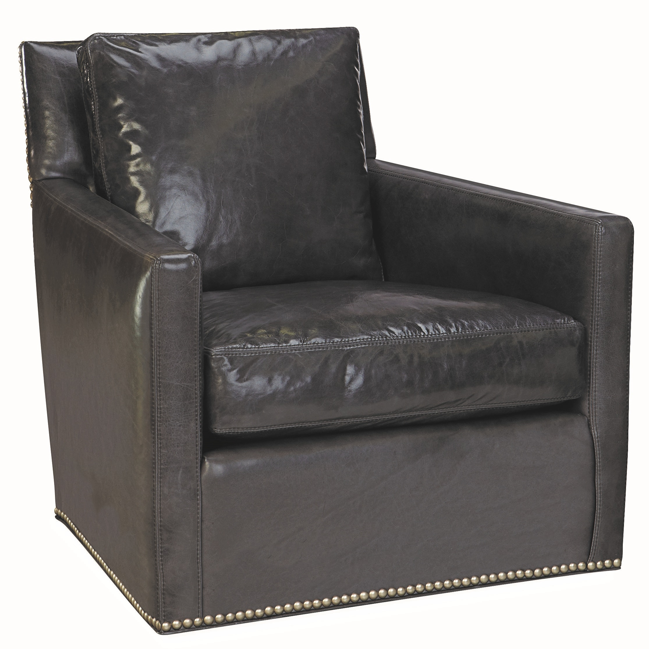 Lee Industries Leather Swivel Chair L1296 01SW