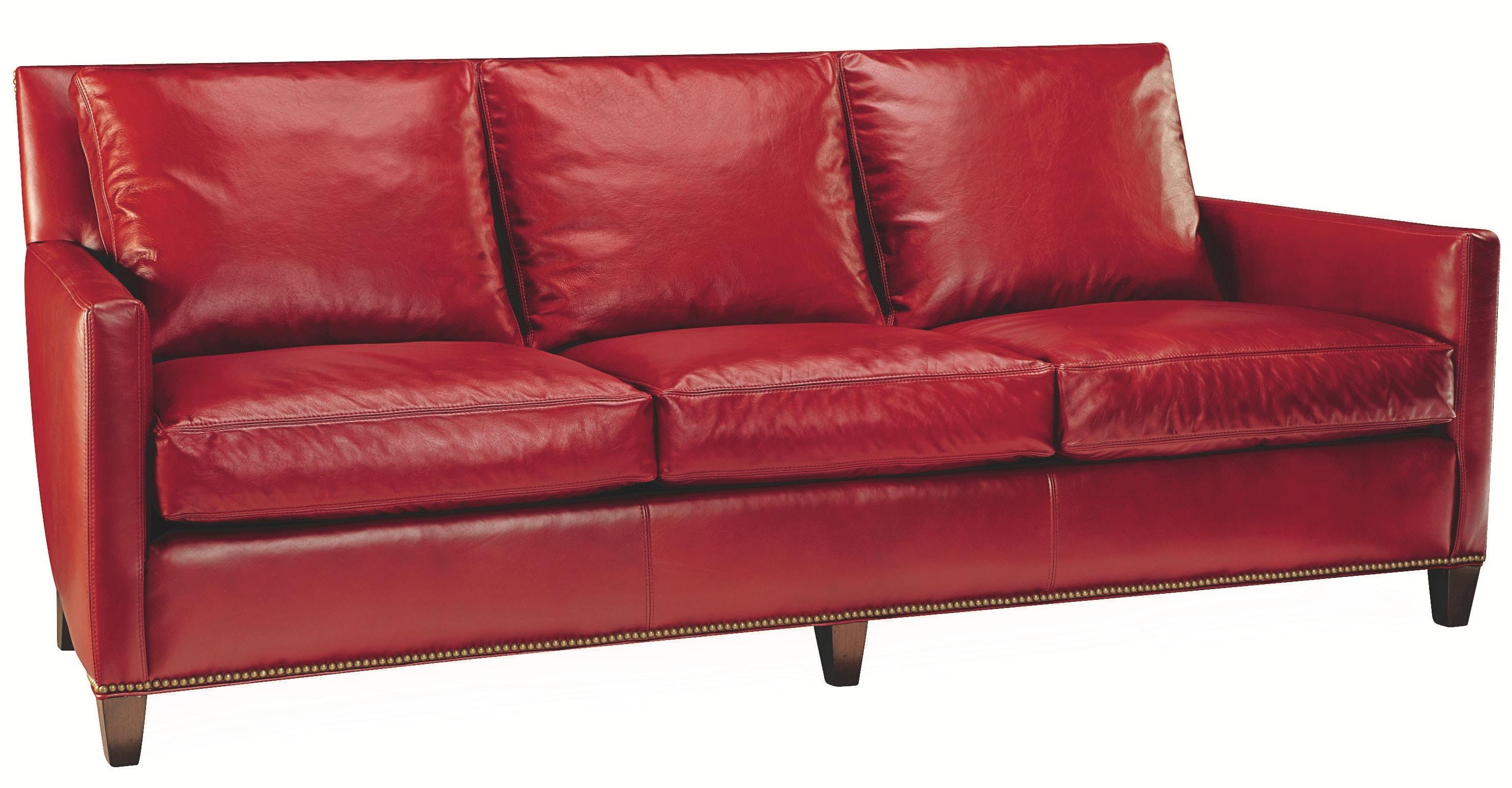 Lee Industries Living Room Leather Sofa L1296 03 At Oasis Rug U0026 Home