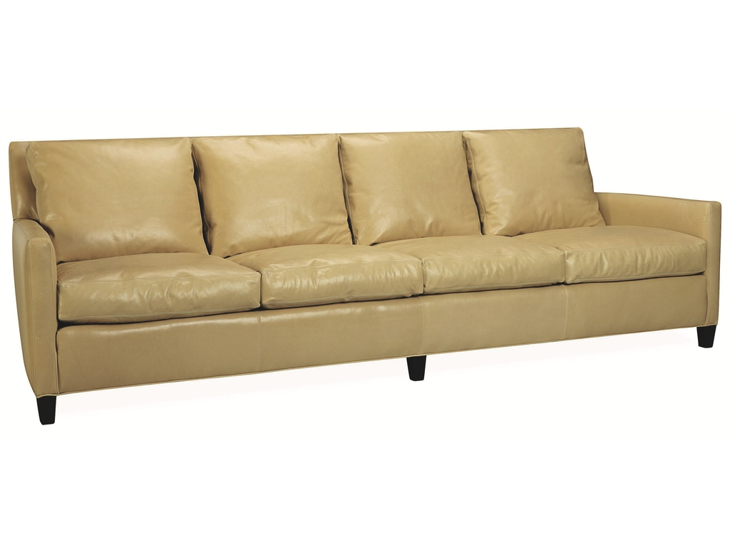 Lee industries living room leather extra long sofa l1296 for Long couch chair