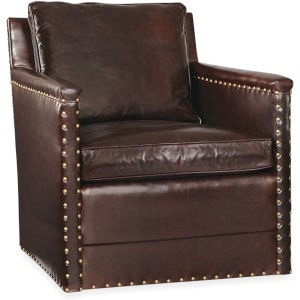 Lee Industries Leather Swivel Chair L1935 01SW