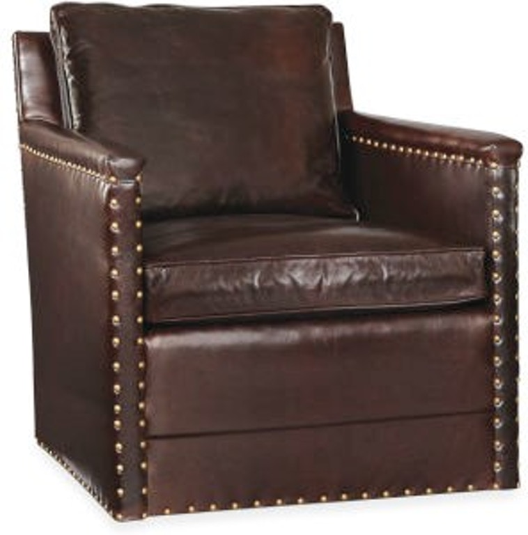 Lee Industries Living Room Leather Swivel Chair L1935-01SW
