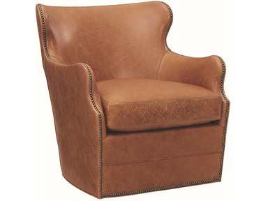 Lee Industries Living Room Leather Swivel Chair L1993 01sw