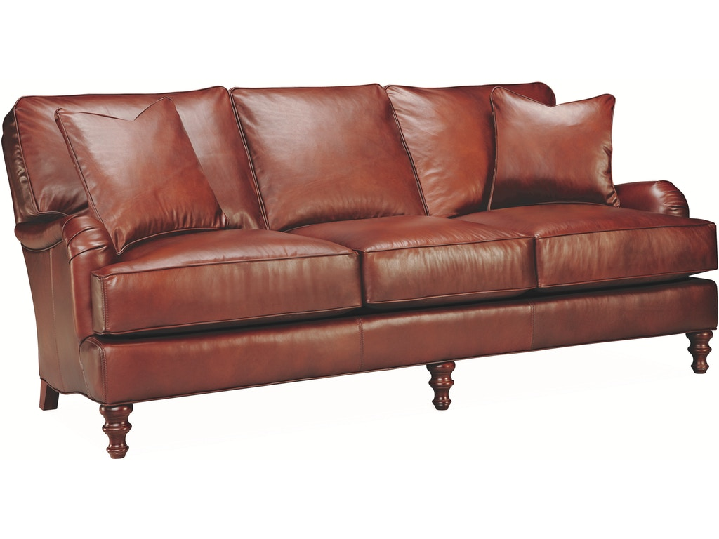 Lee industries living room leather sofa l2452 03 archers for Sofa design for hall
