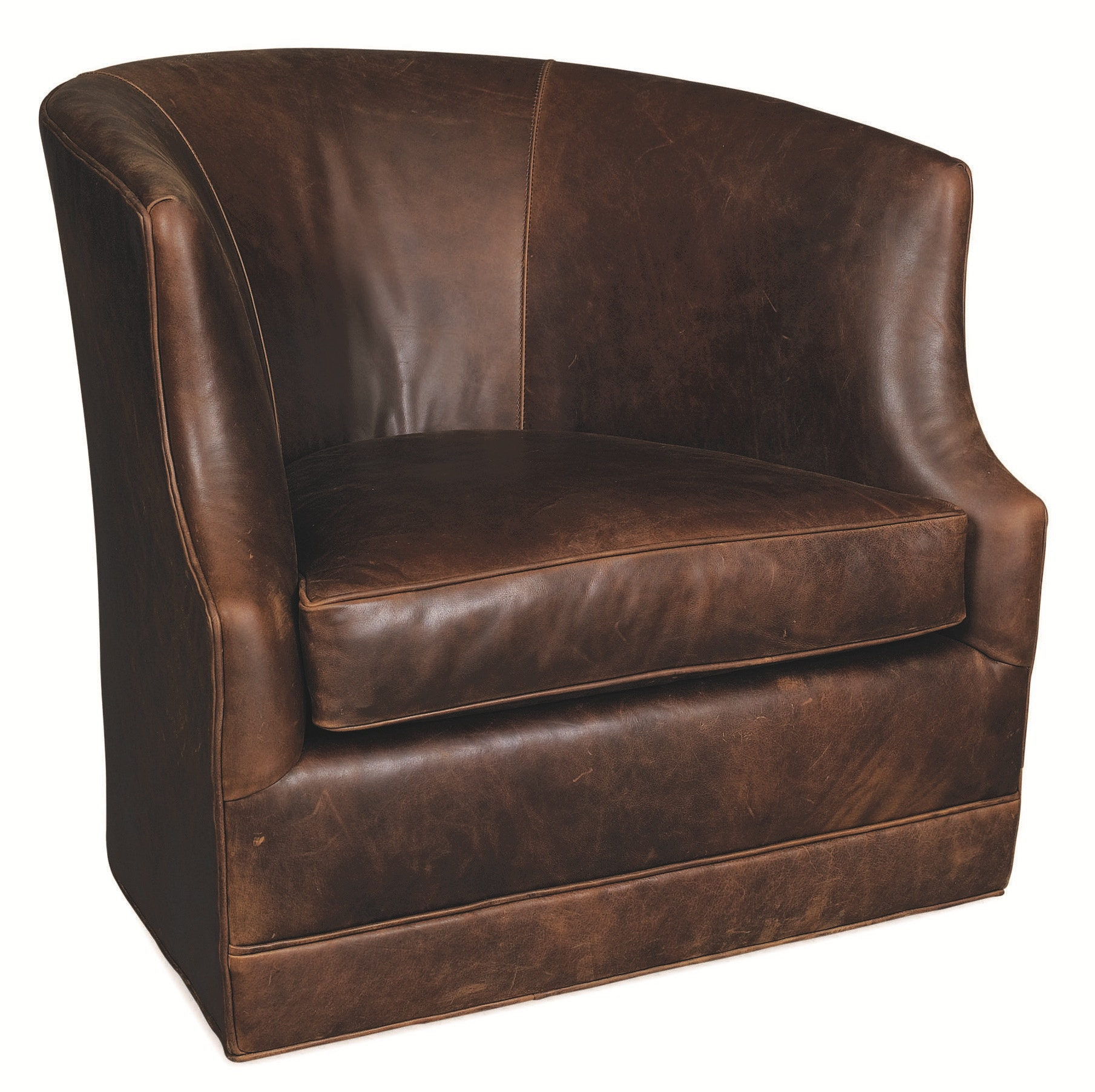 Lee Industries Leather Swivel Chair L3009 01SW