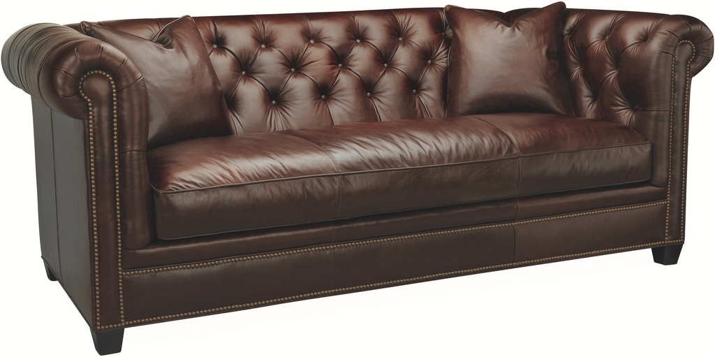 Lee Industries Living Room Leather Sofa L3772-03 - R W ...