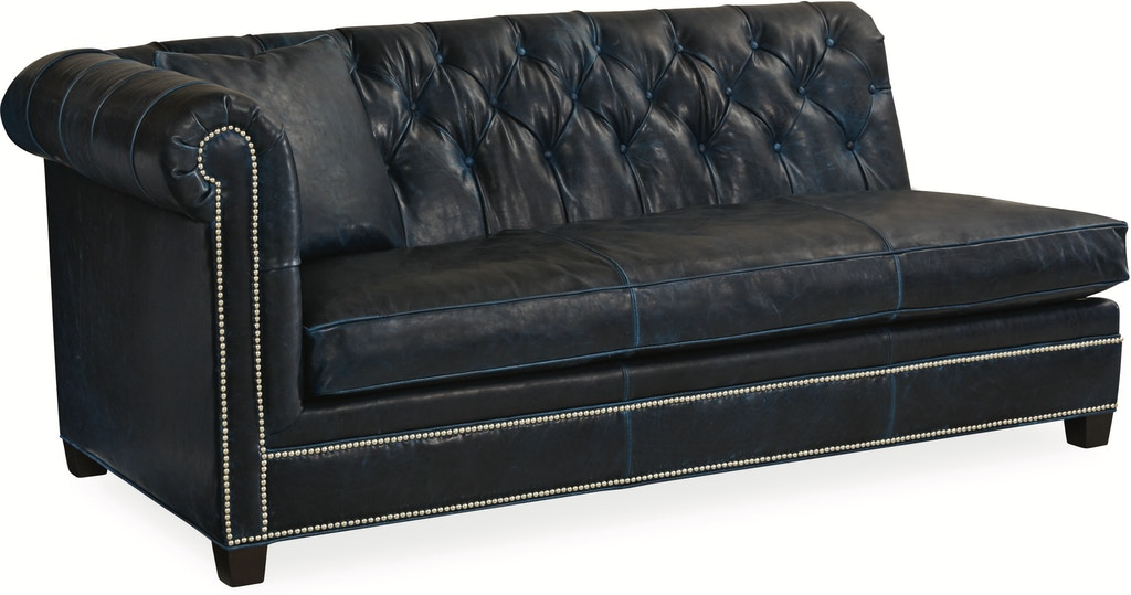 Leather One Arm Sofa L3772 18lf