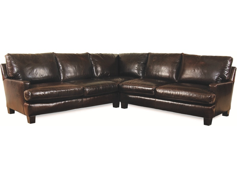 Lee Industries Living Room Leather Sectional Series L3973 ...