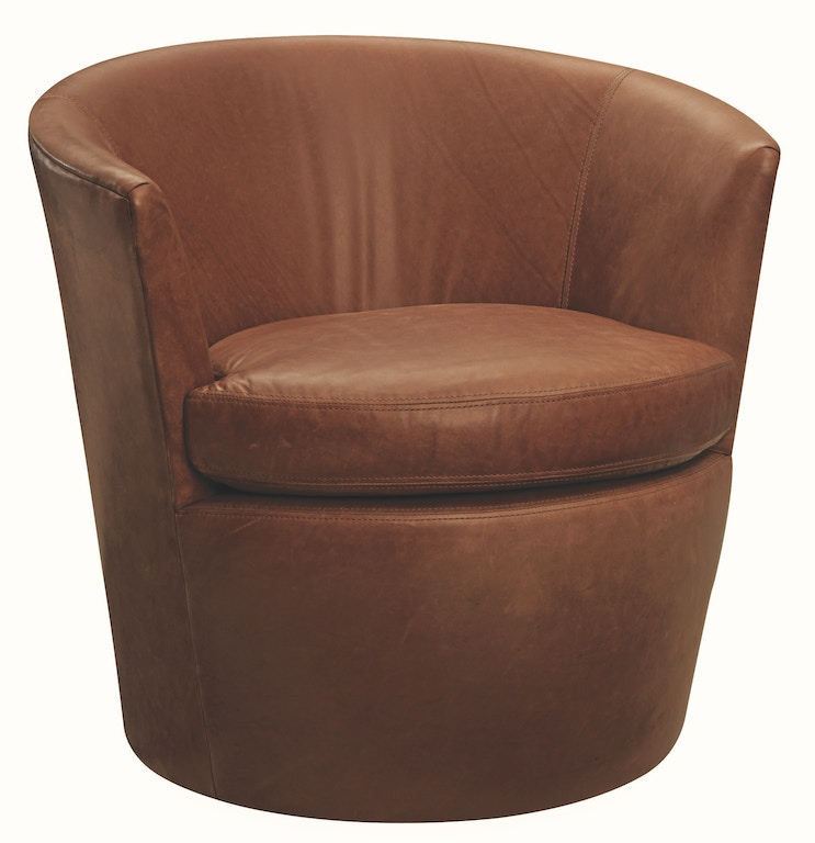Lee Industries Living Room Leather Swivel Chair L5027-01SW ...