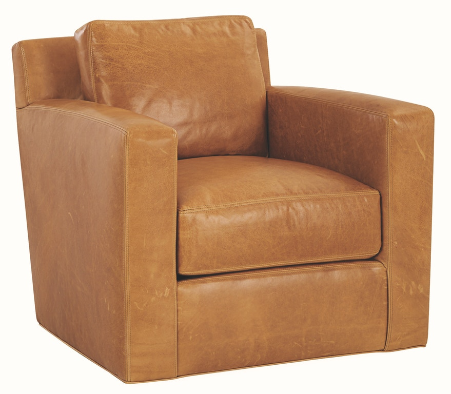 Lee Industries Living Room Leather Swivel Chair L5232-01SW ...