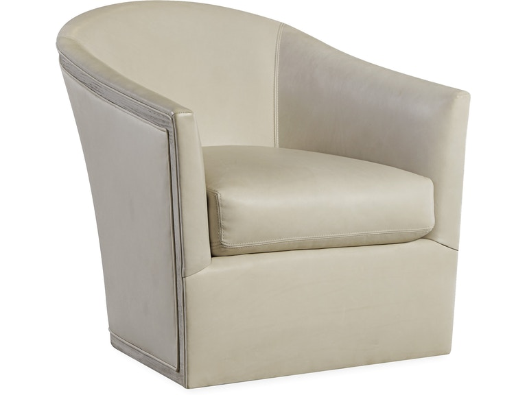Lee Industries Living Room Leather Swivel Chair L5772-01SW - Meg ...