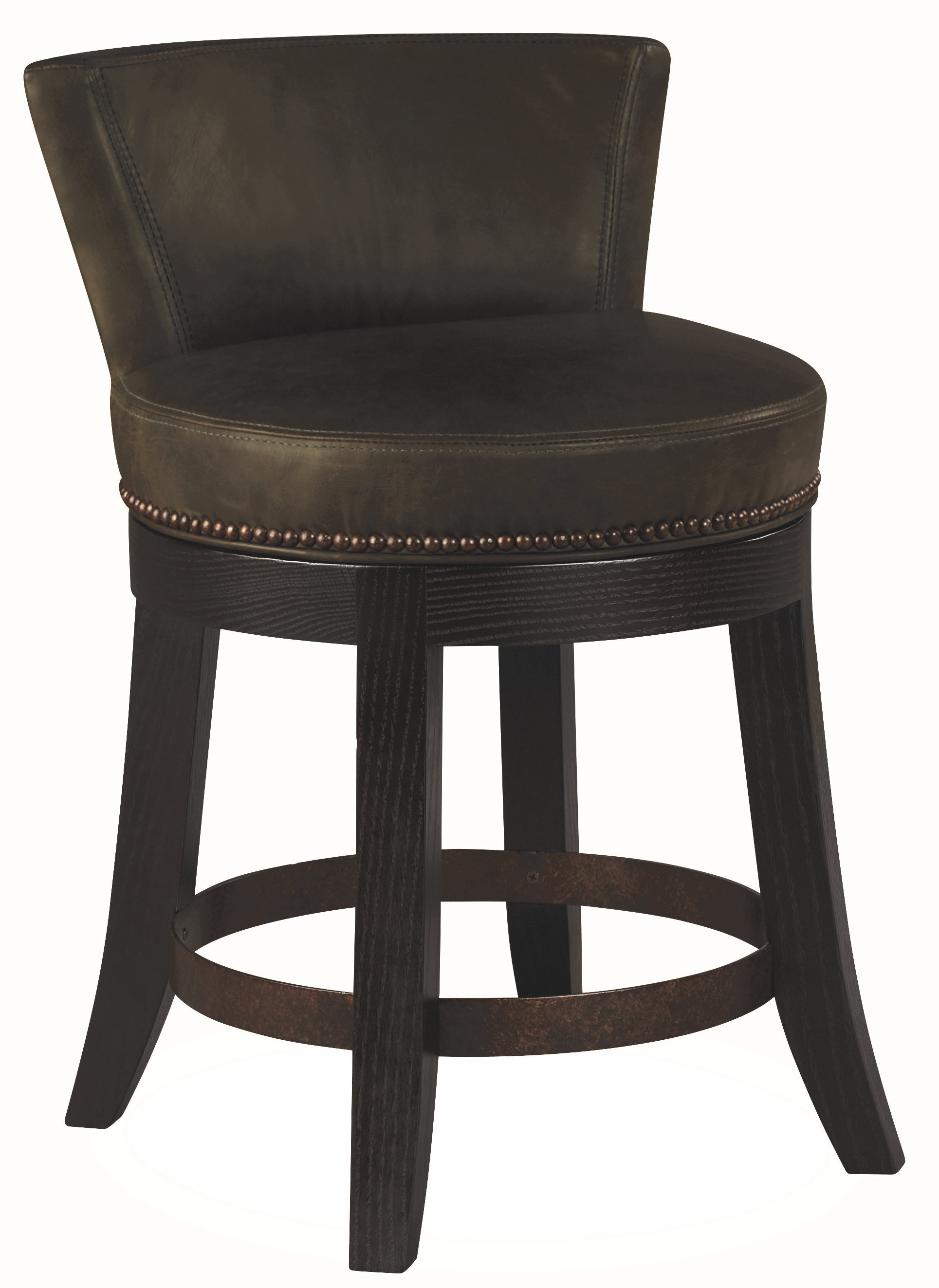 Lee Industries Bar And Game Room Leather Swivel Stool