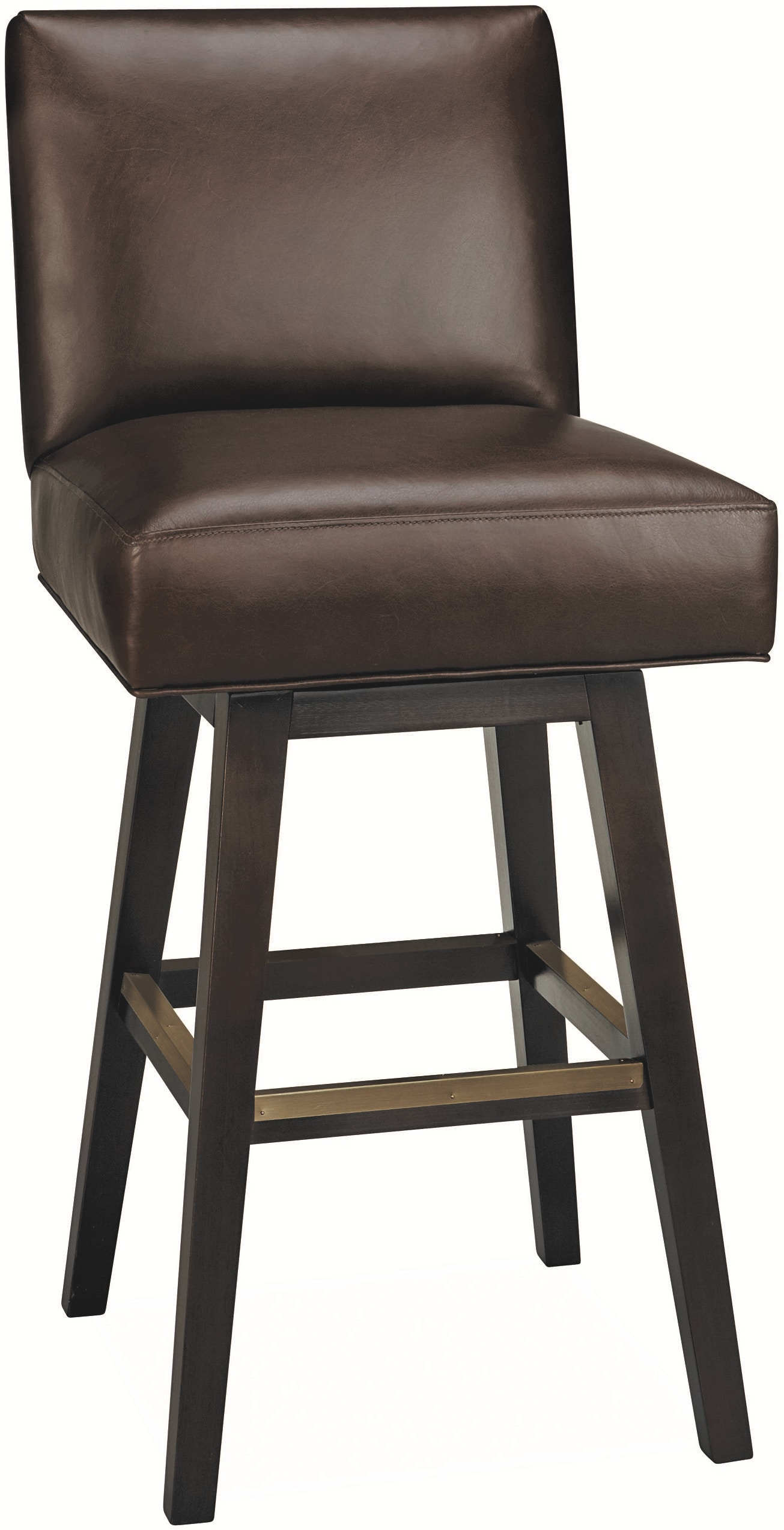 Lee Industries Bar And Game Room Leather Swivel Bar Stool