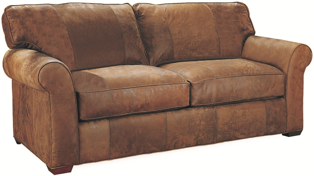 Lee Industries Living Room Leather Apartment Sofa L7117-11 ...