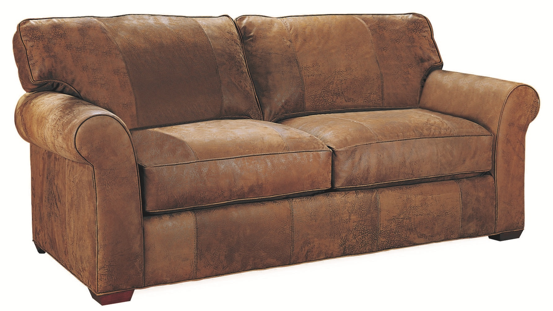 Lee Industries Living Room Leather Apartment Sofa L7117 11 At Exotic Home  Coastal Outlet