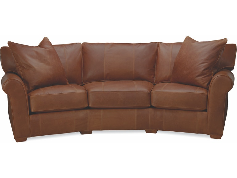 Lee Industries Living Room Leather Wedge Sofa L7117 33