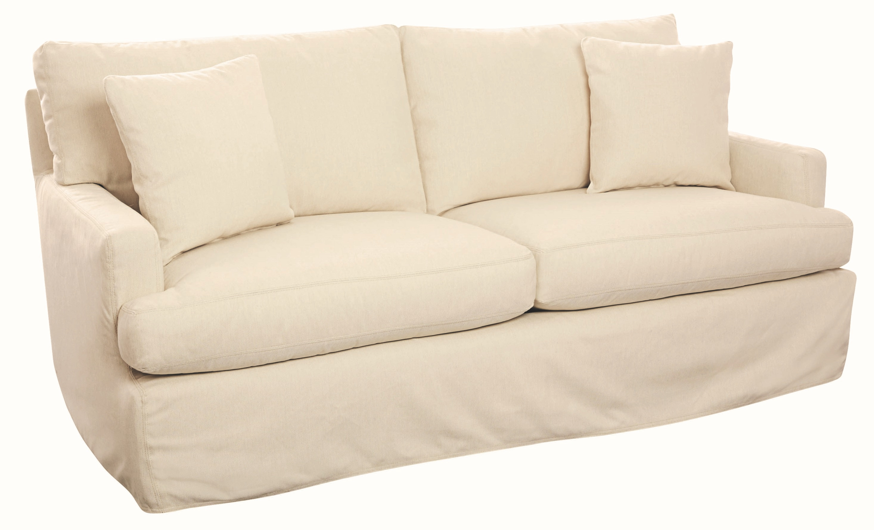 Captivating Lee Industries Rockport Outdoor Slipcovered Apartment Sofa US156 11