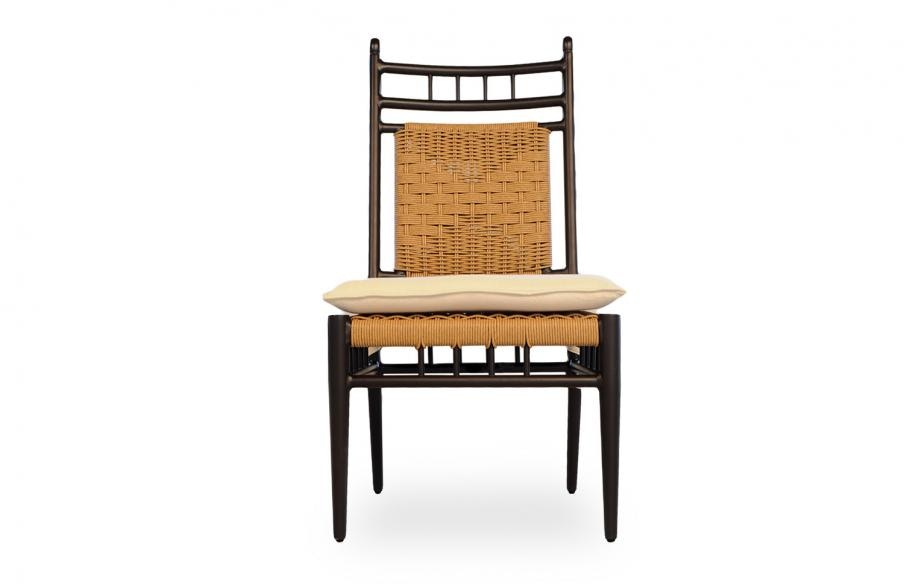 Lloyd Flanders Outdoor Patio Low Country Side Dining Chair