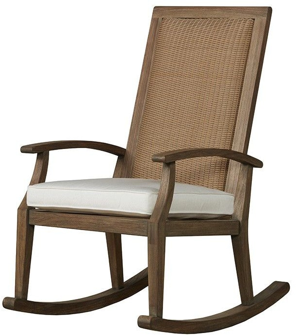 Lloyd Flanders Outdoor/Patio High Back Rocker 135036 - Zing Casual Living - Naples and Fort ...