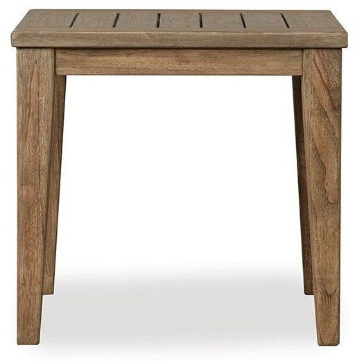 Lloyd Flanders Outdoor Patio The Wildwood Square Tapered Leg End Table