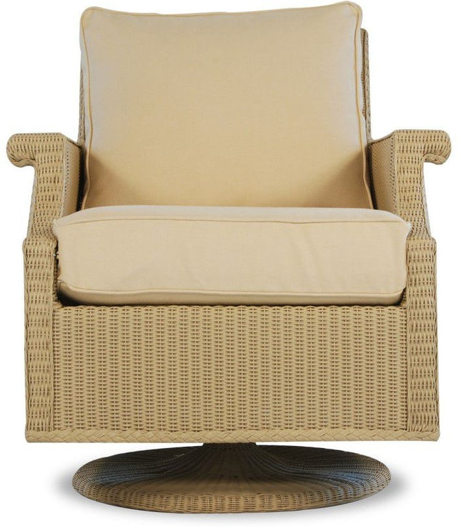 Lloyd Flanders Outdoor Patio Swivel Rocker Lounge Chair