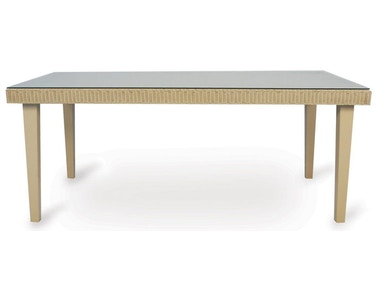 Lloyd Flanders Rectangular Dining Table With Lay On Glass 15972
