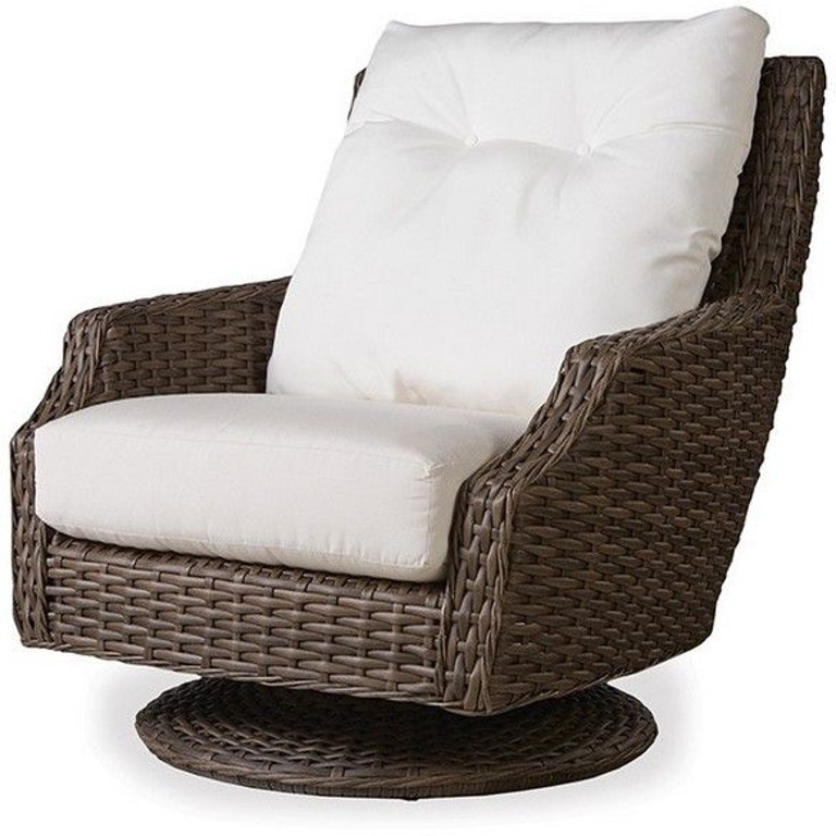 Lloyd Flanders Outdoor Patio High Back Swivel Rocker Lounge Chair