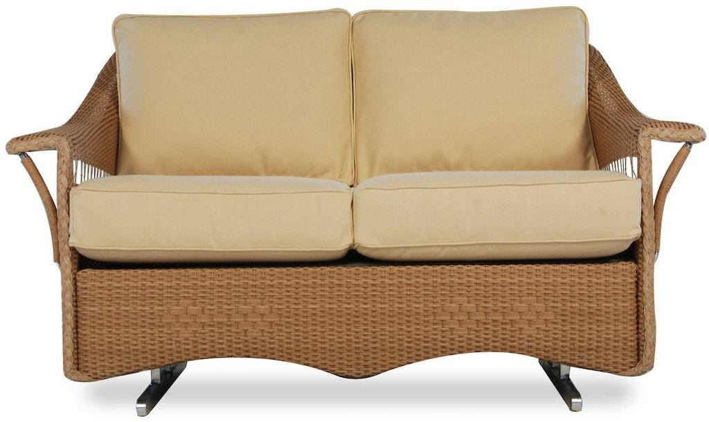 Patio Furniture Loveseat Glider.Lloyd Flanders Outdoor Patio Loveseat Glider 51047 Mills Thomas