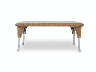 Lloyd Flanders Rectangular Cocktail Table In Traditional Weave 86242