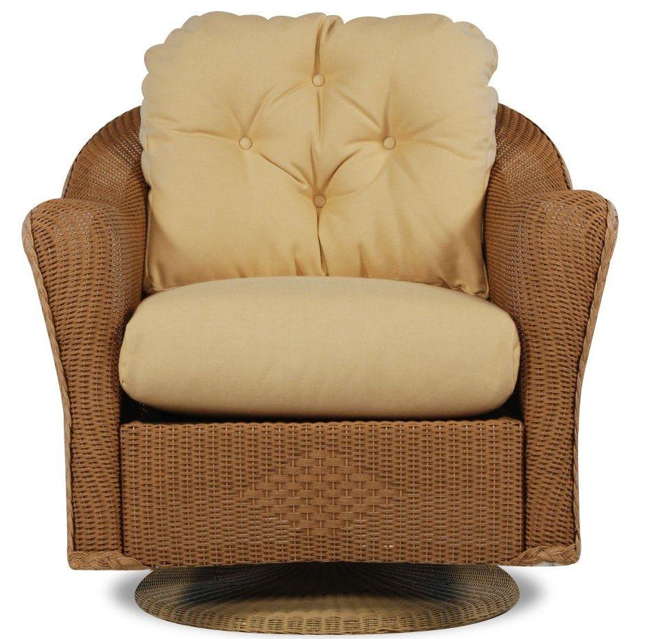 Lloyd Flanders Outdoor Patio Swivel Rocker Lounge Chair 9080