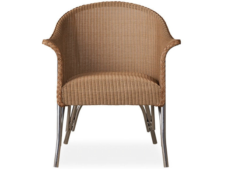 Lloyd Flanders Outdoor Patio All Seasons Lounge Chair With Padded Seat 124302 At Zing Casual Living