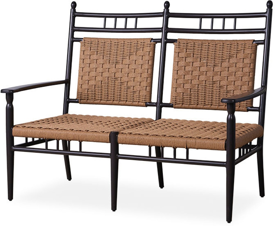 Enjoyable Lloyd Flanders Outdoor Patio Low Country Cushion Less Settee Gmtry Best Dining Table And Chair Ideas Images Gmtryco
