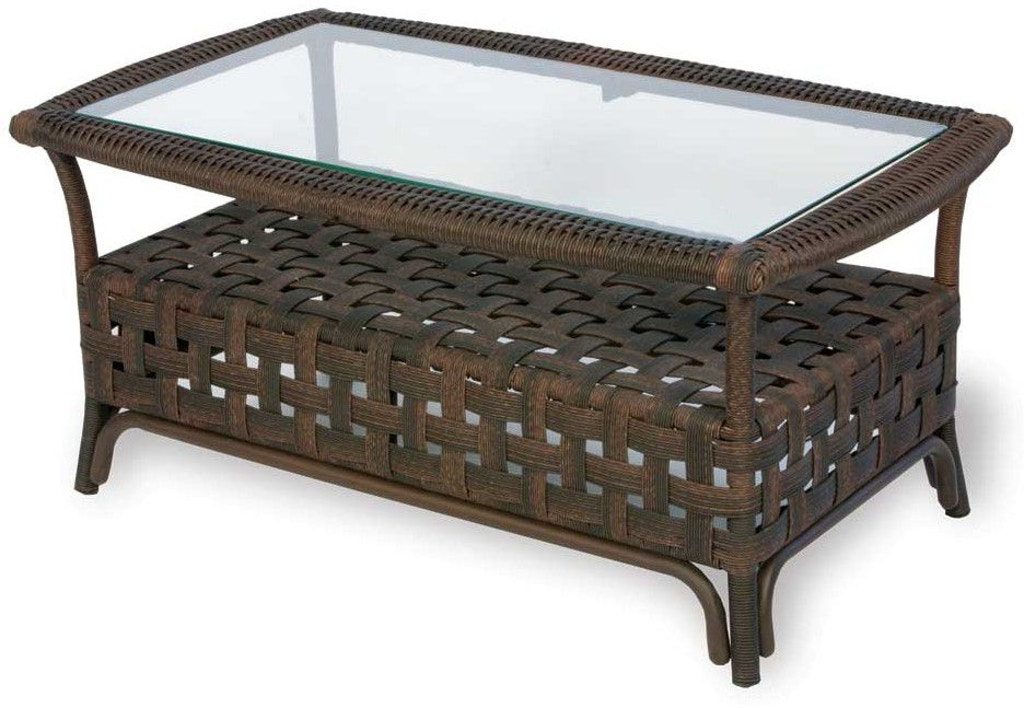 Lloyd Flanders Outdoor Patio 40 Rectangular Cocktail Table 43044