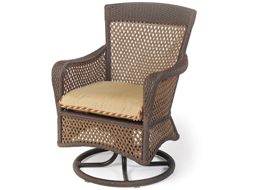 Lloyd Flanders Outdoor Patio Swivel Dining Arm Chair 71381 Bacons Furniture Port Charlotte Fl