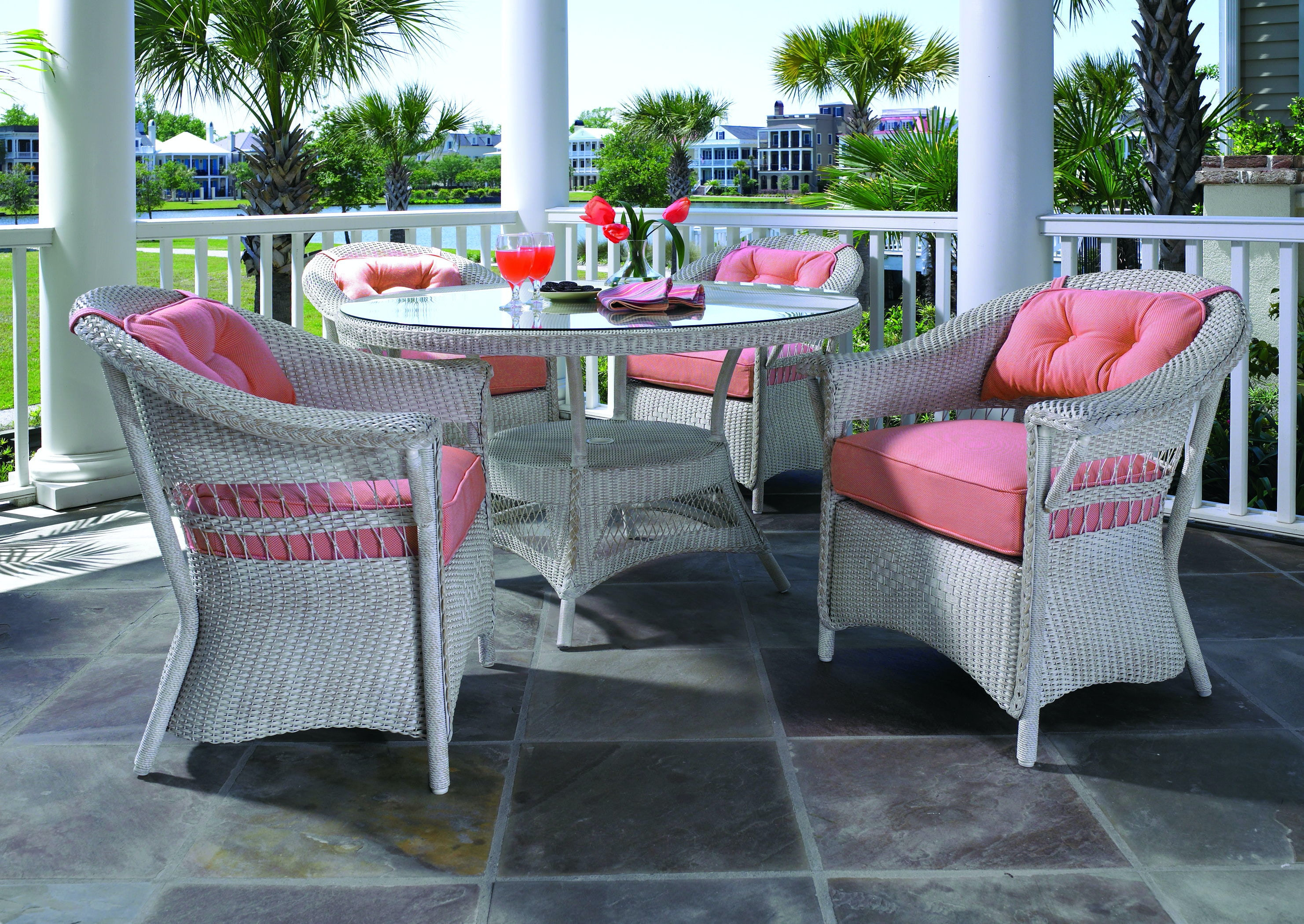 Lloyd Flanders Outdoor Patio Dining Chair Zing Casual Living Naples