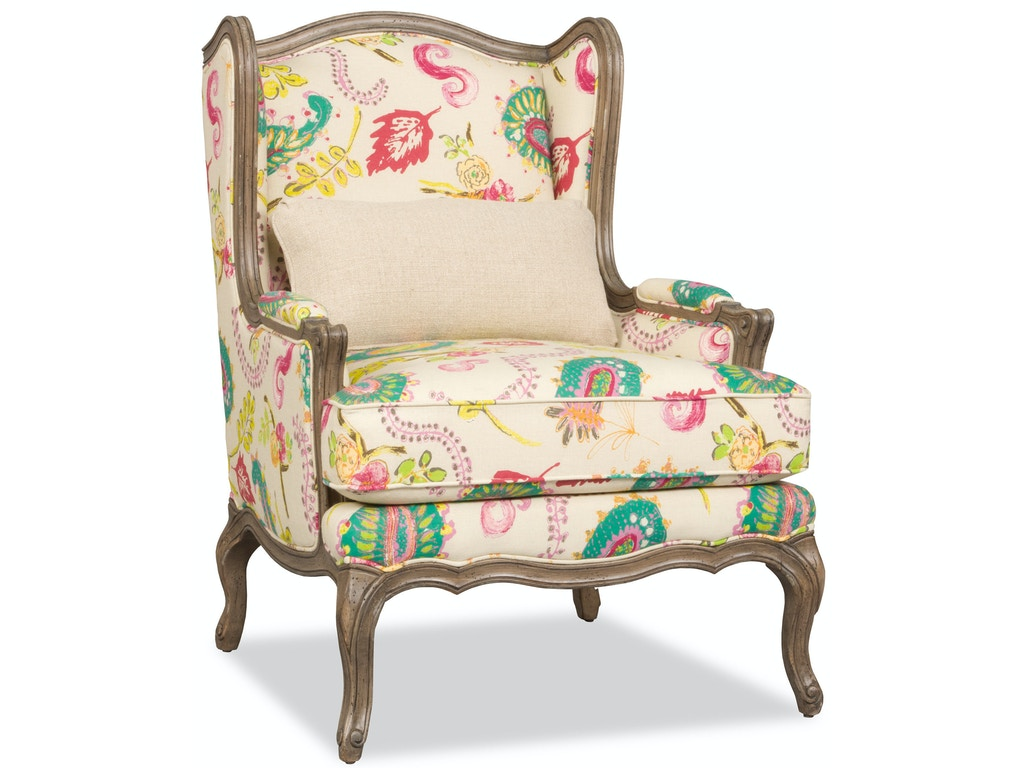 Sam Moore Living Room Kelsea Wing Chair 2504 Hickory