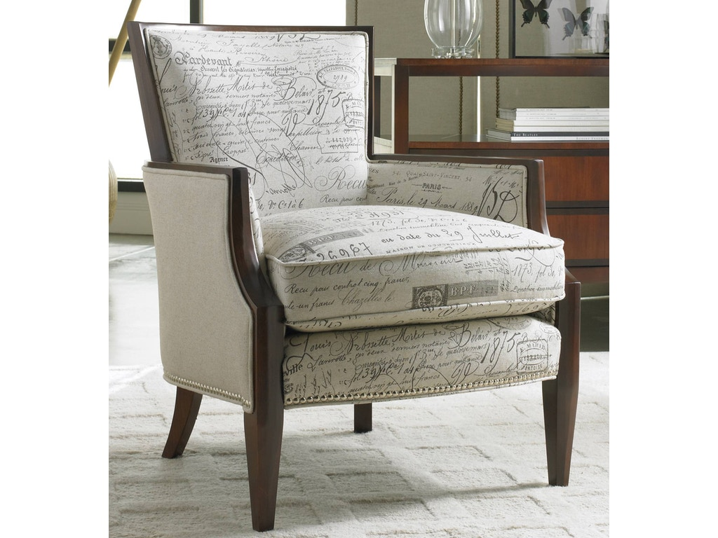 Wooden chairs for living room - Sam Moore Nadia Exposed Wood Chair 4508sm