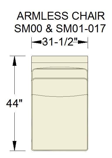 Sam Moore Simply Me Armless Chair SM01 017