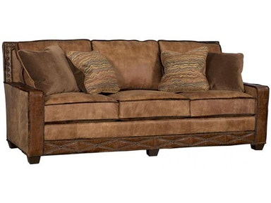 1000 Bwn Lf Savannah Leather Fabric Sofa
