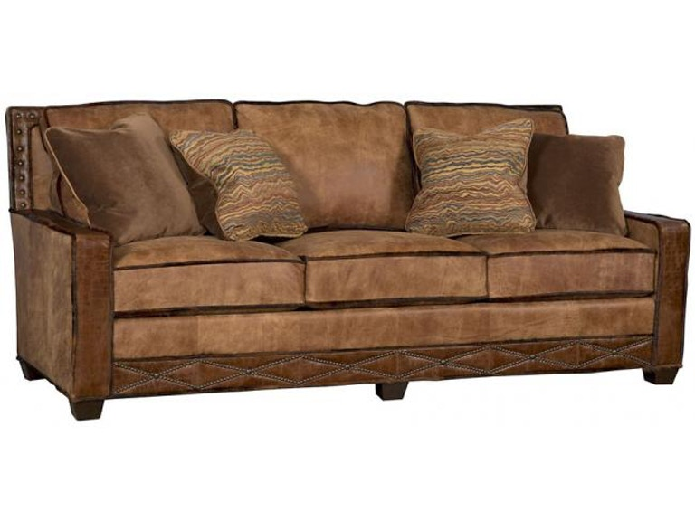 King Hickory Savannah Leather Fabric Sofa 1000 Bwn Lf