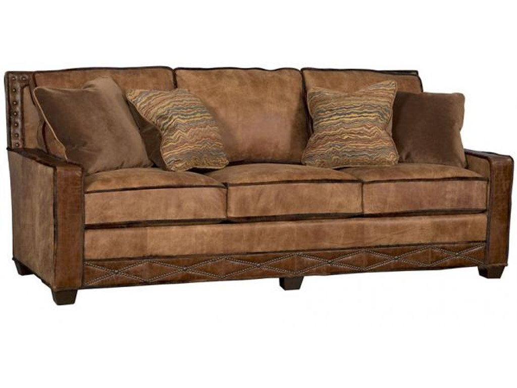 King Hickory Living Room Savannah Leather Fabric Sofa 1000 Bwn Lf Brownlee 39 S Furniture