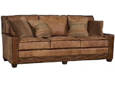 King Hickory Savannah Leather Fabric Sofa