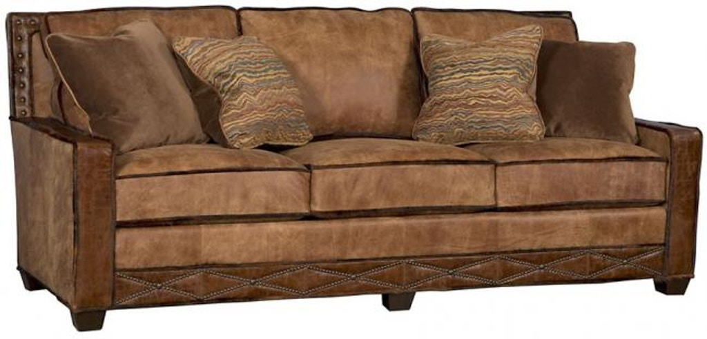 Hickory Manor Living Room Savannah Leather Fabric Sofa 1000 ...