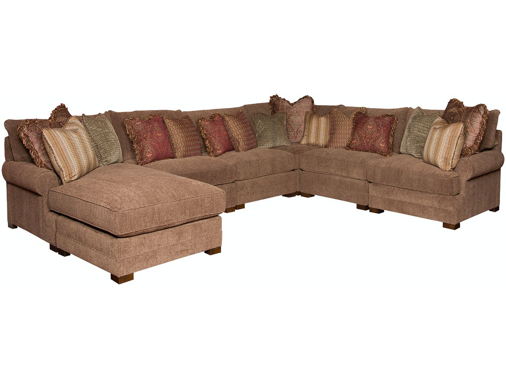 King Hickory Living Room Casbah Sectional 1100-86-61-64-13 ...